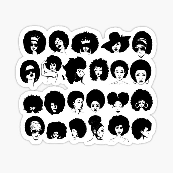 Afro Woman Sticker