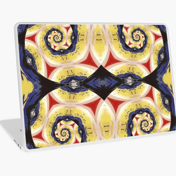 """""""Growth Mindset"""" Red, Yellow, Blue and White Geometric/Lyrical Abstract Art Galaxy - Jenny Meehan Laptop Skin"""