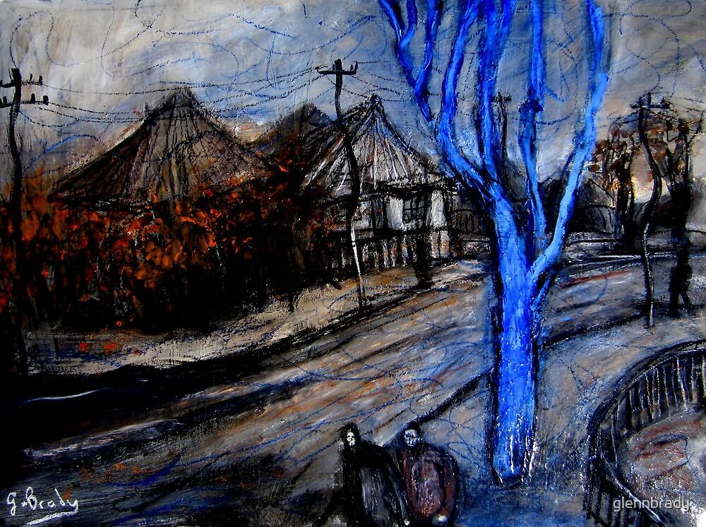 blue winter tree by glennbrady
