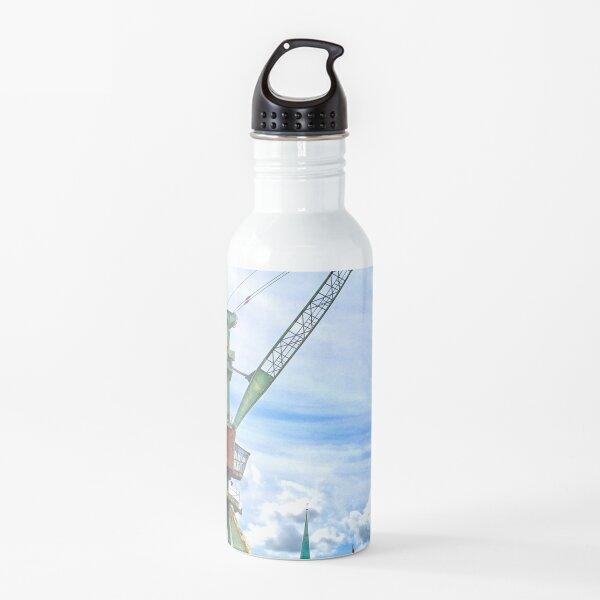 The port crane, Zurich, Switzerland Water Bottle