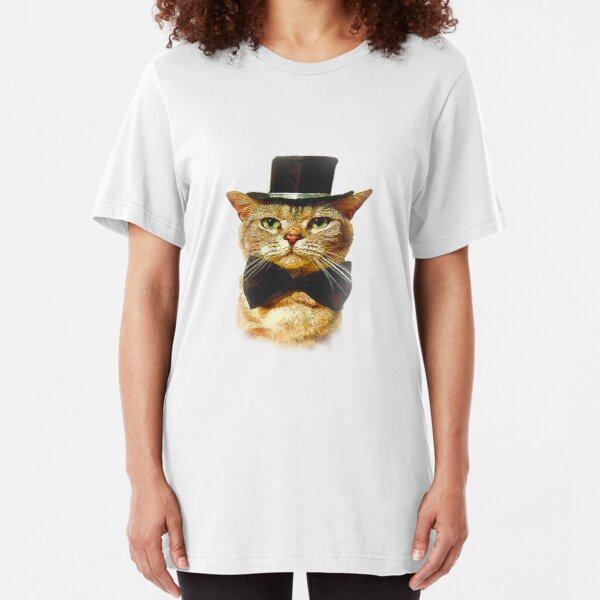 t shirt Mens Womens Unisex steampunk cat top hat 19th century retro cool