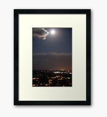 Blue Moon Over Canon Framed Print