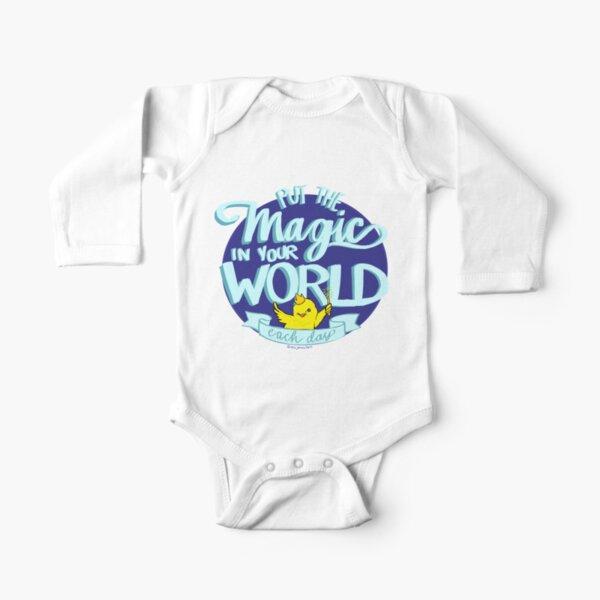 Magic Chickie Says - Miss Jamie's Farm  Long Sleeve Baby One-Piece