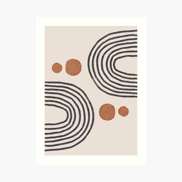 Contemporary Caramel brown Art Print