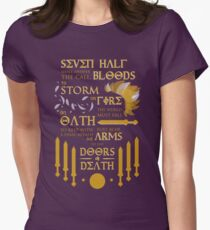 The Prophecy of Seven Women's Fitted T-Shirt