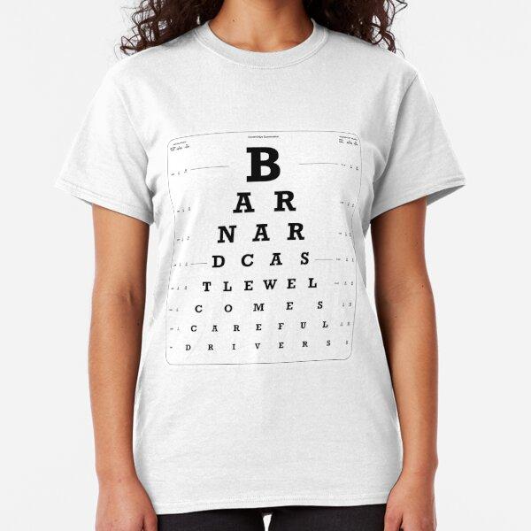 Barnard Castle Eye Test light version Classic T-Shirt
