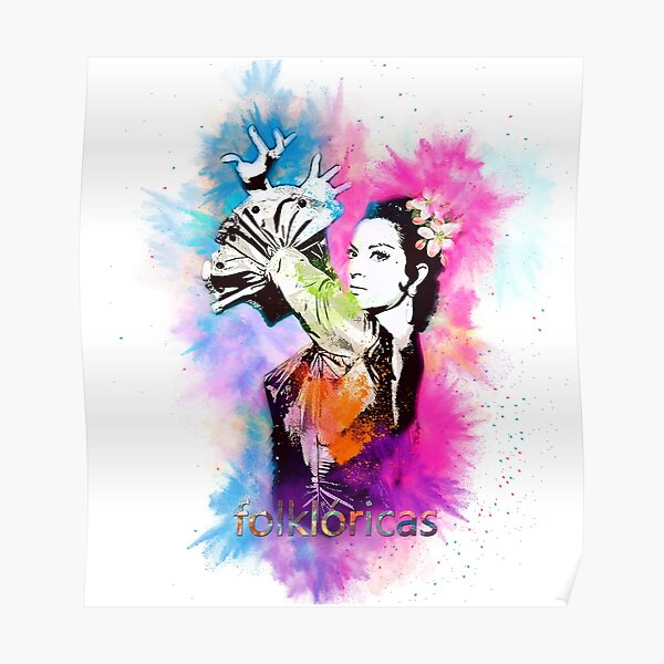 Lola Flores Torbellino de Colores Póster