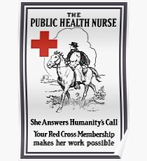The Public Health Nurse -- Red Cross Poster