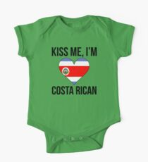 Kiss Me I'm Costa Rican One Piece - Short Sleeve