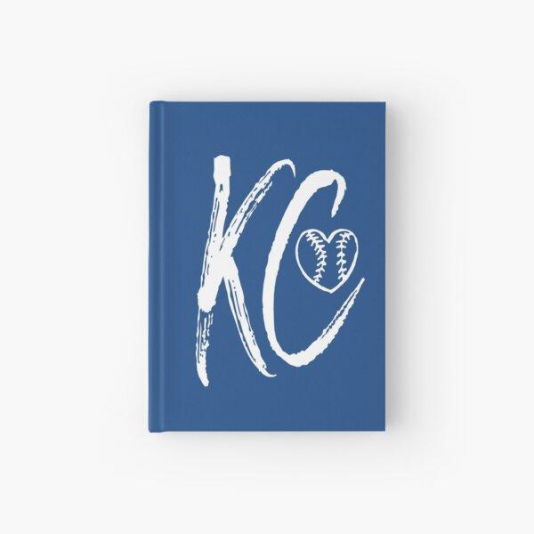 Kansas City Baseball Heart, I love KC Hardcover Journal