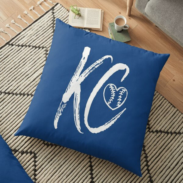 Kansas City Baseball Heart, I love KC Floor Pillow