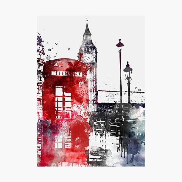 London Red English Phone Photographic Print