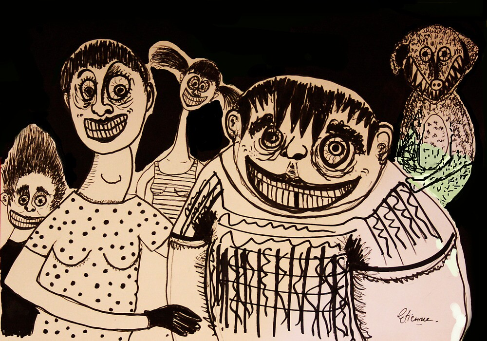 A happy family by Edamien