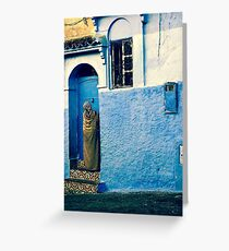 THE COLOUR OF HER DRESS IS PERFECT WITH THE REST OF THE PLACE!!! Morocco Greeting Card