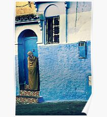 THE COLOUR OF HER DRESS IS PERFECT WITH THE REST OF THE PLACE!!! Morocco Poster