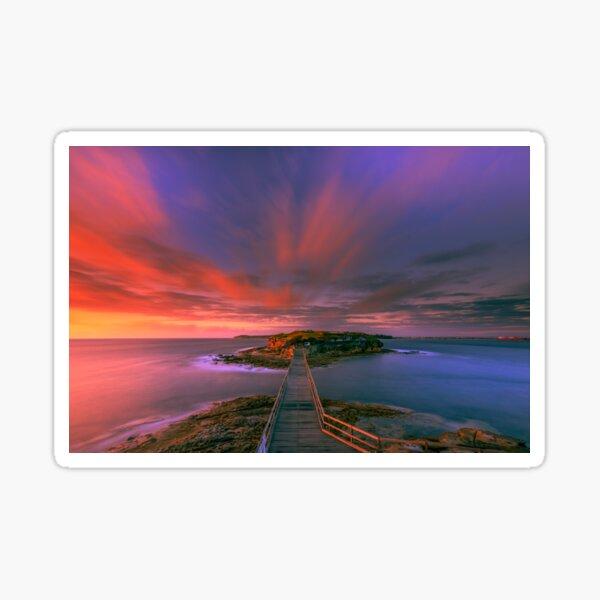 Bare Island Sunrise Sticker