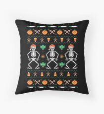 Trick or Christmas Throw Pillow