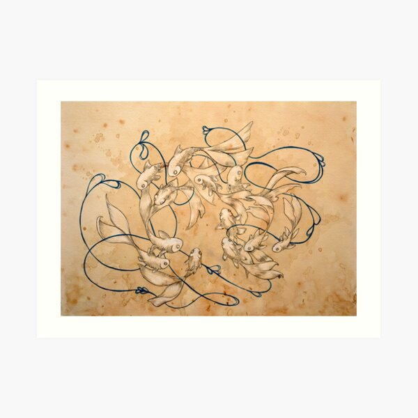 Twirl and Loop Art Print