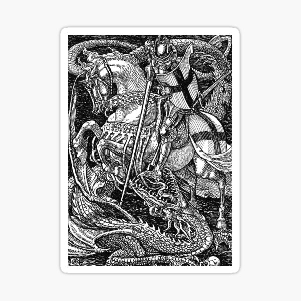 St George and the Dragon Sticker