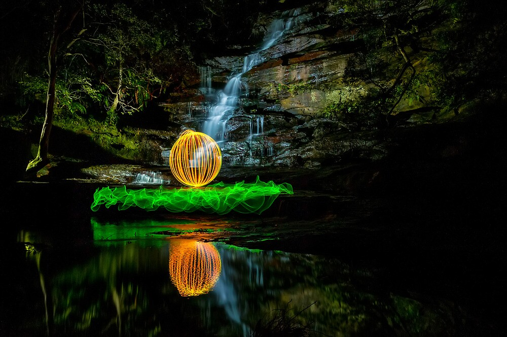 Somersby Falls - having a ball by Jason Ruth