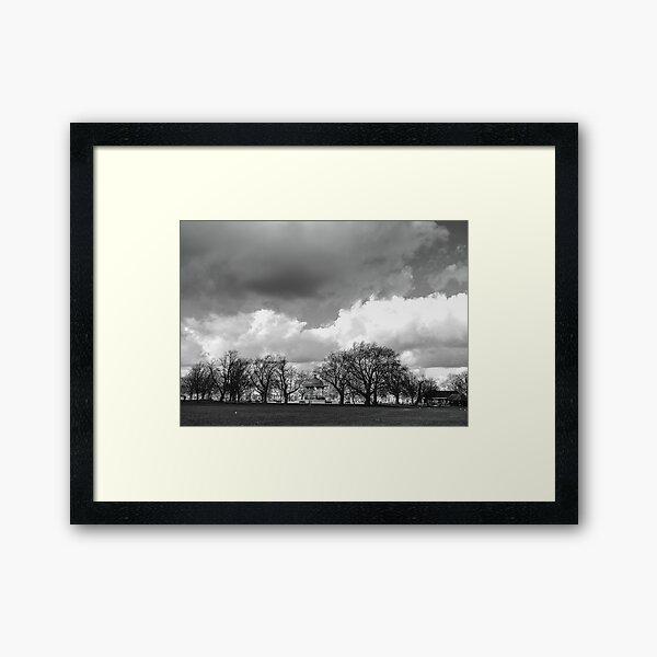 stormy clapham Framed Art Print