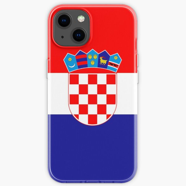 Croatian Flag Gifts, Stickers & Products iPhone Soft Case