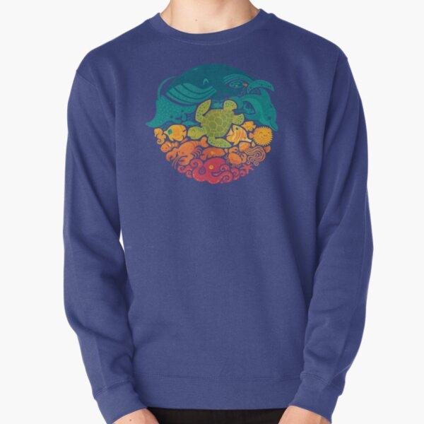 Aquatic Rainbow (light blue) Pullover Sweatshirt