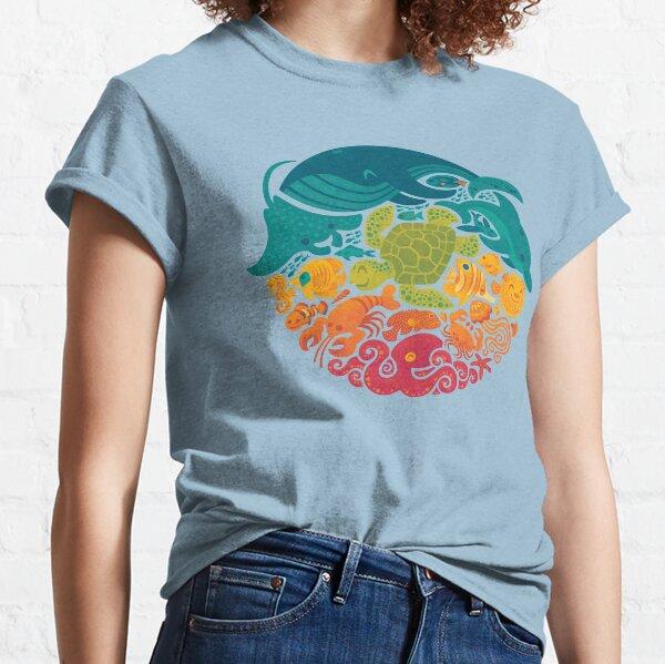 Aquatic Rainbow (light blue) Classic T-Shirt
