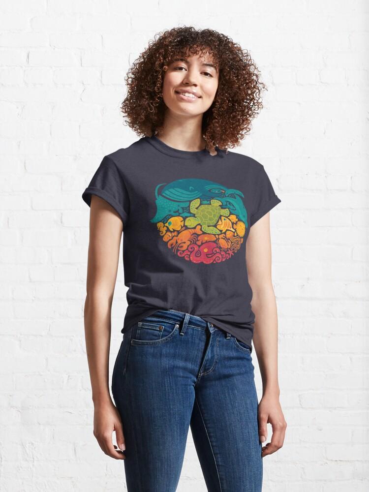 Alternate view of Aquatic Rainbow Classic T-Shirt