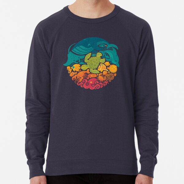 Aquatic Rainbow Lightweight Sweatshirt