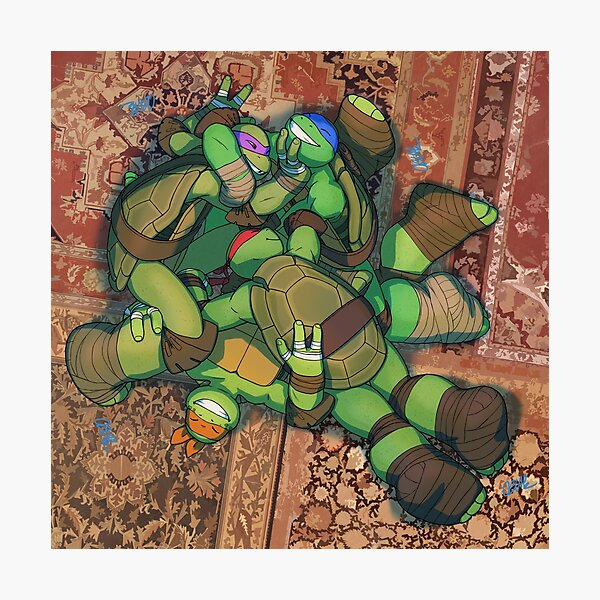 Rough and Tumble Turtle Pile - TMNT Photographic Print