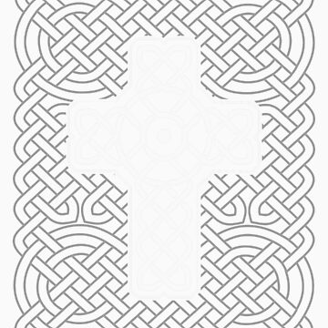 Celtic Cross on Celtic Knot by chromedreaming