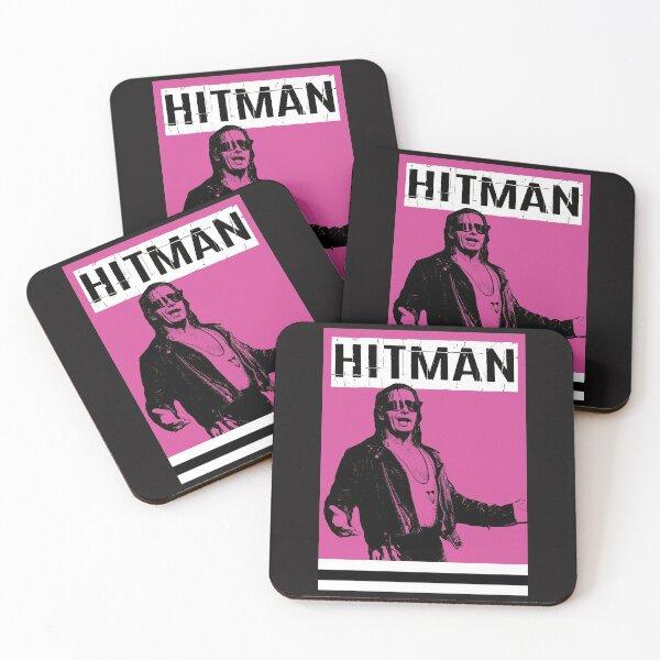 Bret the Hitman Hart Coasters (Set of 4)