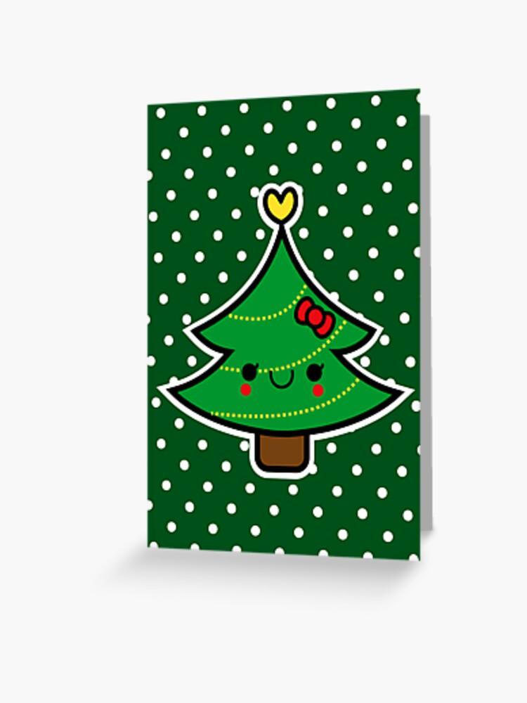 Fille Carte de Noël