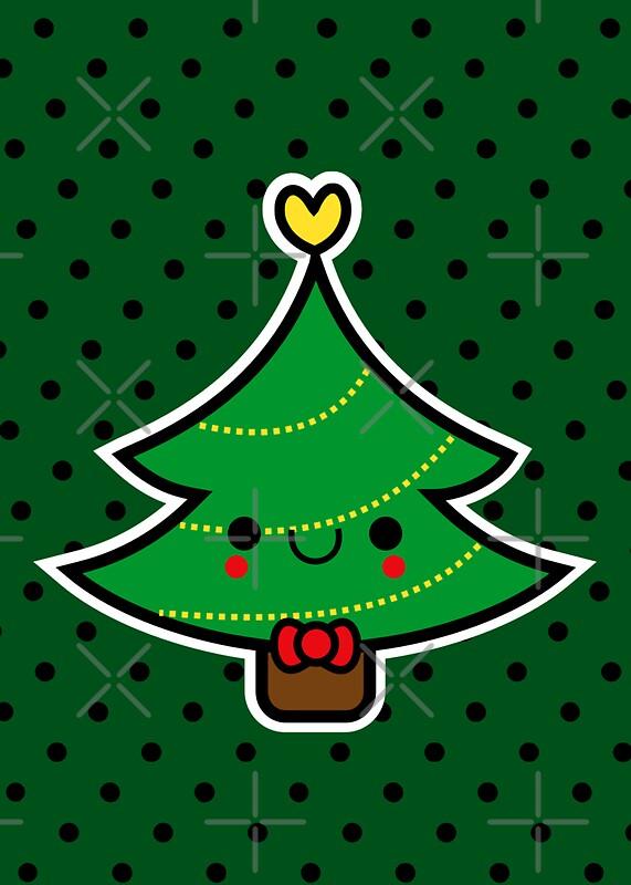 Quot Adorable Kawaii Cartoon Christmas Tree Boy Quot Greeting