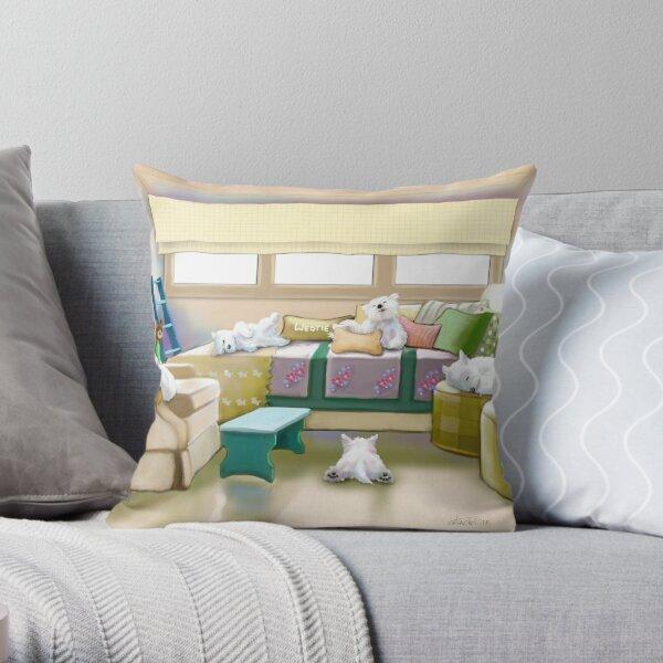Westie Retreat Throw Pillow