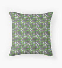 Minecraft - Emerald Ore Pattern Throw Pillow