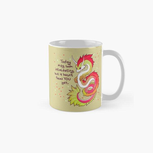 """Today May Look Intimidating"" Encouraging Chinese Dragon Classic Mug"