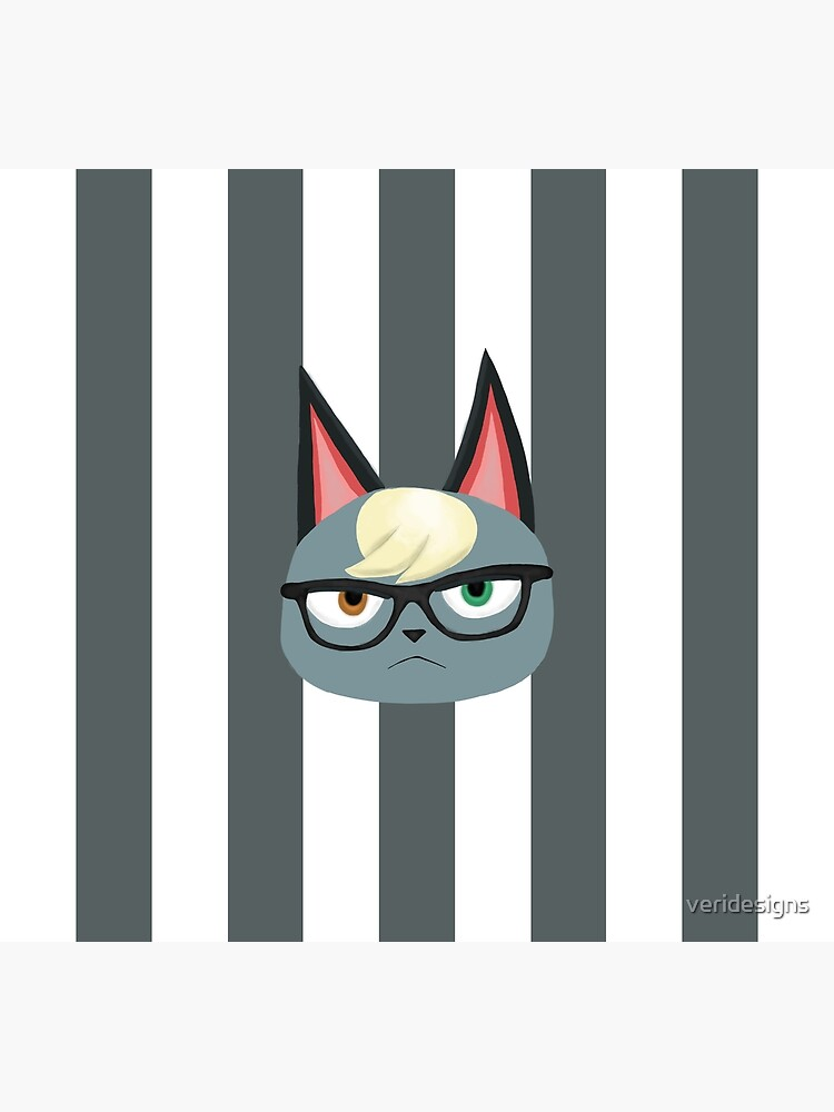 Raymond Villager Animal Crossing New Horizons Design Cat Villager Alternative Background Greeting Card By Veridesigns Redbubble