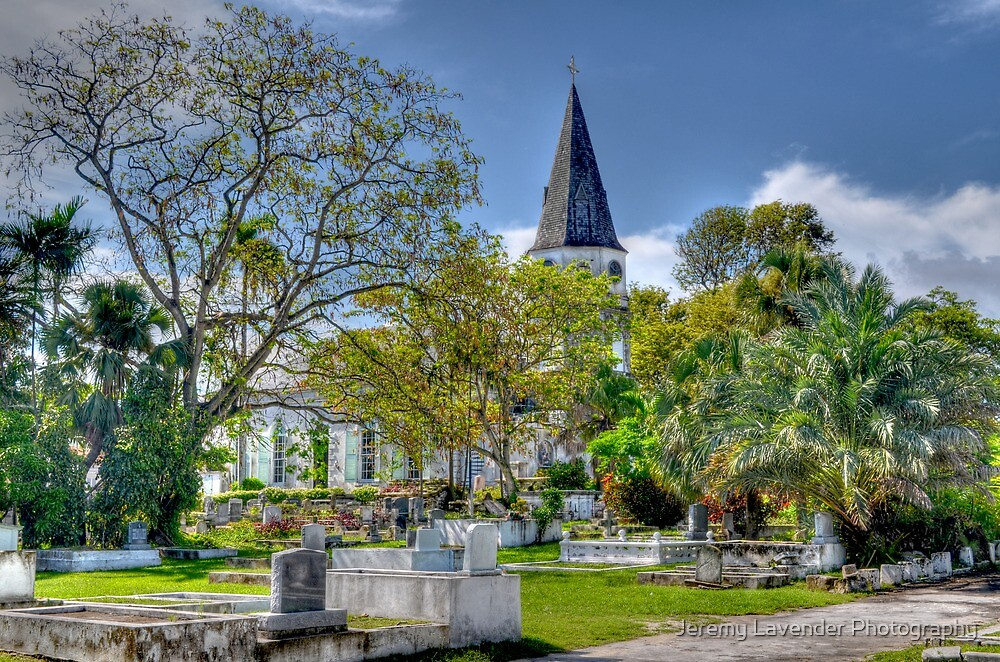St. Matthew's Anglican Episcopal Church and Eastern Cemetery in Nassau, The Bahamas by Jeremy Lavender Photography
