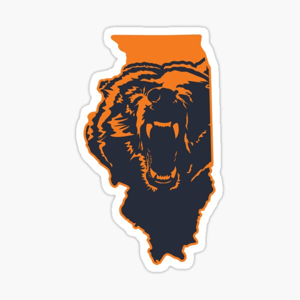 Chicago Bears Illinois NFL State Outline Sticker