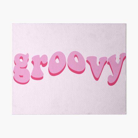 Pink Groovy Art Board Print