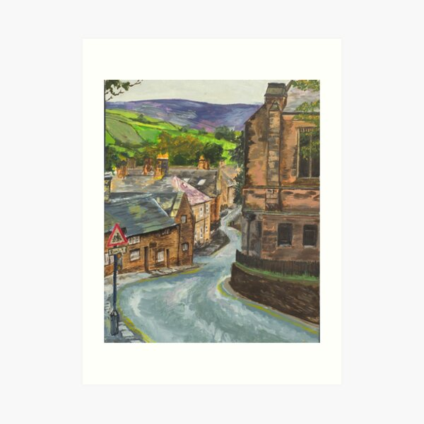 Old Glossop Derbyshire Art Print