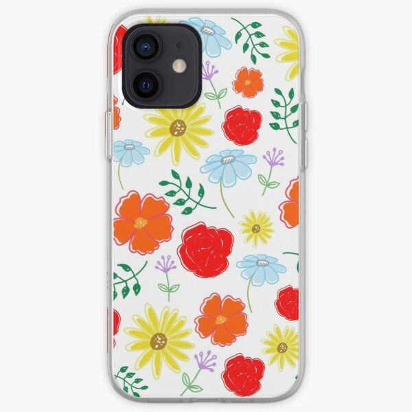 Bright flowers iPhone Soft Case