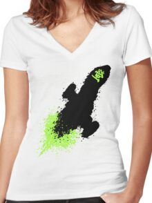 GLOW FLY! Women's Fitted V-Neck T-Shirt