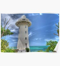 Eastern Road Lighthouse in Nassau, The Bahamas Poster