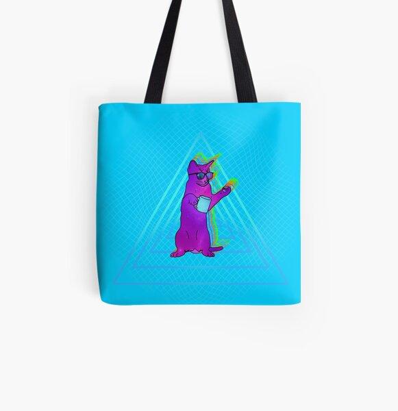 Catnip Cat Bolsa estampada de tela