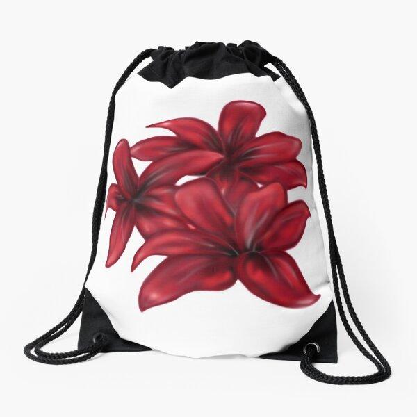 Rote Blüten / rote Blumen Turnbeutel