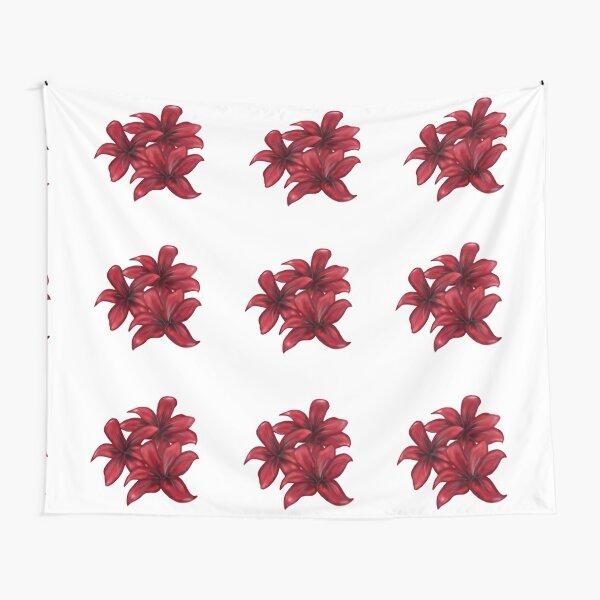 Rote Blüten / rote Blumen Wandbehang