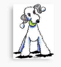 Bedlington Terrier Let's Play Canvas Print